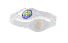 POWER BALANCE Bracelet silicone transparent/blanc